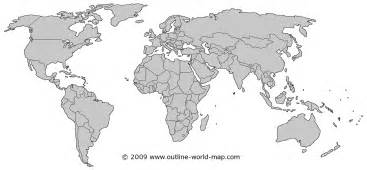 World Map Country Outline by Maps World Map Gray