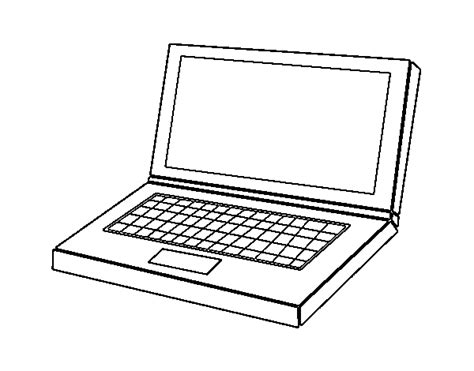 Computer Laptop Coloring Page Coloring Pages On The Computer