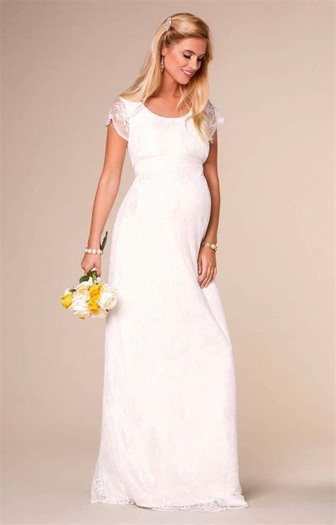 April Wedding Nursing Lace Gown Long Ivory   Maternity