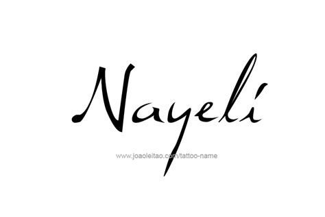 nayeli name tattoo designs