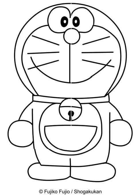 disegni di disegno di doraemon che sorride da colorare