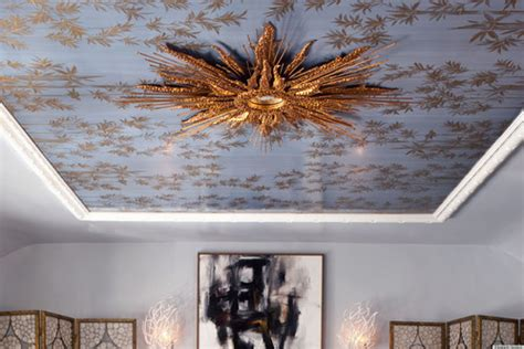 silver leaf ceilings  inspire decadence