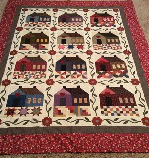 Patchwork Cottage - this pattern is called patchwork cottage by the rabbit