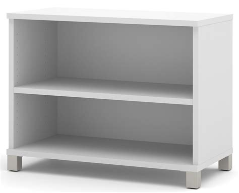 Pro Linea White 2 Shelf Bookcase From Bestar 120160 1117 White Two Shelf Bookcase
