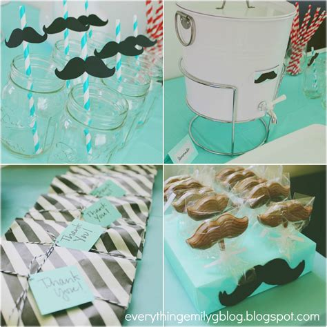 Mustache Baby Shower by Everything Emily Mustache Bash Baby Shower