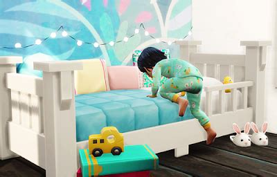 my sims 4 blog: toddler mattress in 44 quilt patterns by