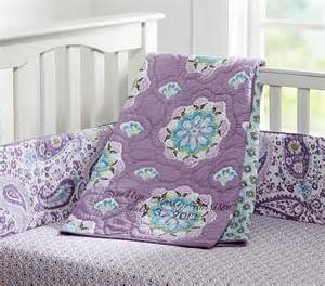 Purple Paisley Crib Bedding by Nursery Ideas Skier Runner