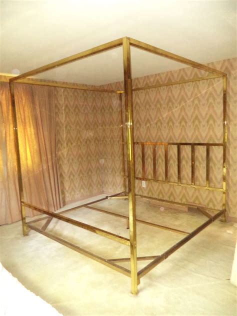 brass headboards for king size beds king size brass four poster canopy bed by pace at 1stdibs