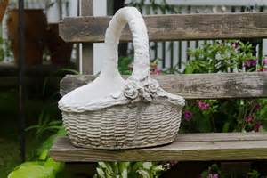 for maggie large cement basket planter garden decor large
