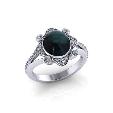 jewelry design ideas rings cabochon indicolite ring jewelry designs