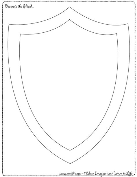 coloring pages knights shields decorate the shield knights castles knight printout