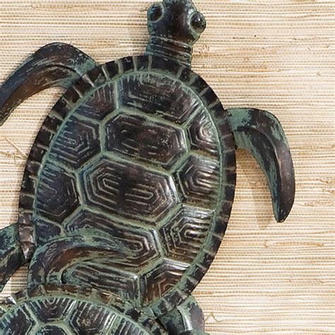 metal turtle wall decor sei sea turtle wall wall sculptures