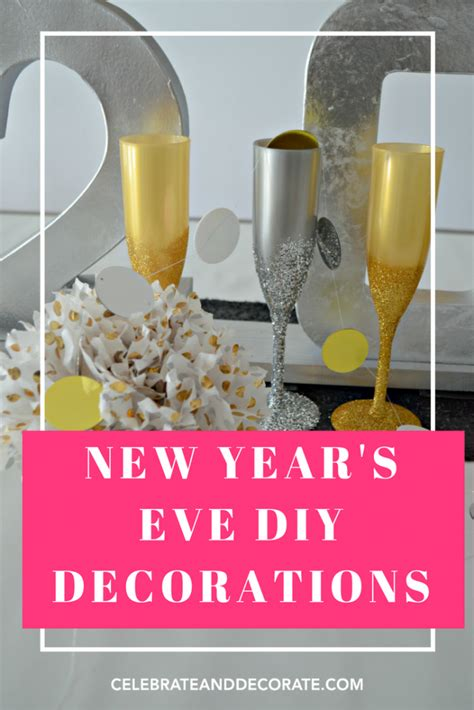 new year 2016 decorations diy last minute new year s diy projects celebrate decorate