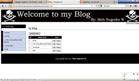 script membuat web sederhana membuat blog sederhana menggunakan php nugikkool live