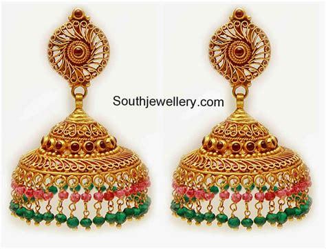 jhumka design images latest gold jhumka designs youtube