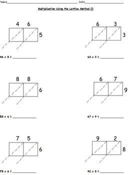 Partial Product Multiplication Worksheets Free by Multiplication Worksheets Lattice Partial Products