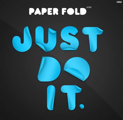 Folded Paper Font - paper fold custom font by vennerconcept on deviantart