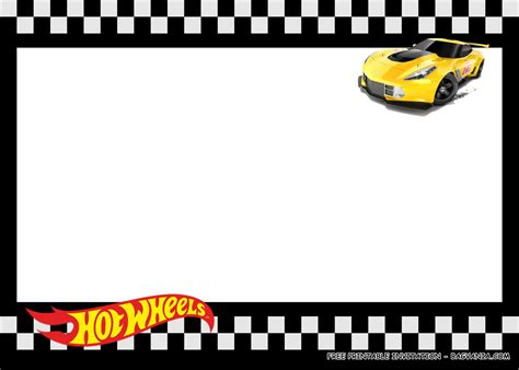 printable hot wheels birthday party kits template