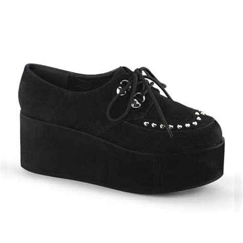 Lace Up Studded Platform Shoes demonia grip 03 lace up studded platform shoes