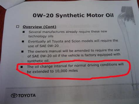 Toyota Camry Synthetic Change Interval Change Interval Page 2 Club Lexus Forums