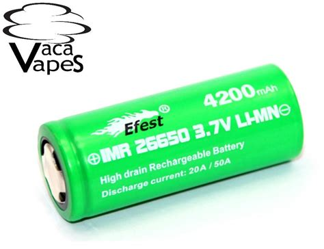 Diskon Efest Imr 26650 Battery 4200mah 3 7v 50a With Flat Top efest green imr 26650 4200mah 50 3 7v flat top batteries vacavapes
