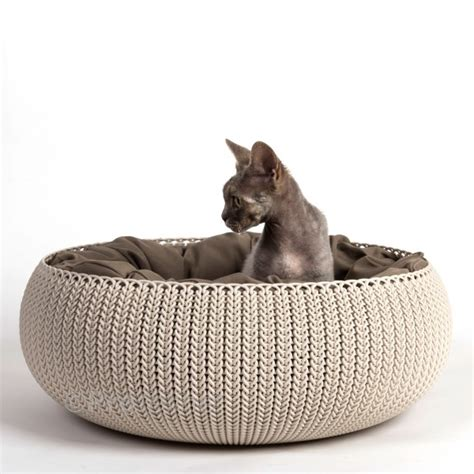 pet r for bed katzenbett von curver in trendiger strickoptik profeline