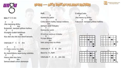 belajar kunci gitar ungu andai ku tahu belajar kunci gitar dan lirik lagu 5 kunci gitar lagu ungu