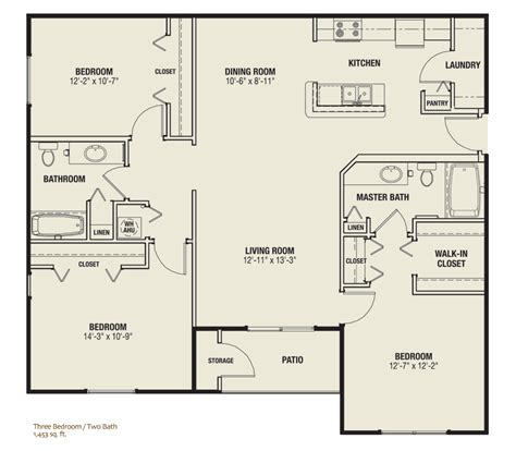 interesting floor plans 3 bedroom apartments irving tx