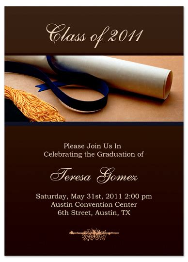 graduation invitation card template word 8 best images of graduation printable card template