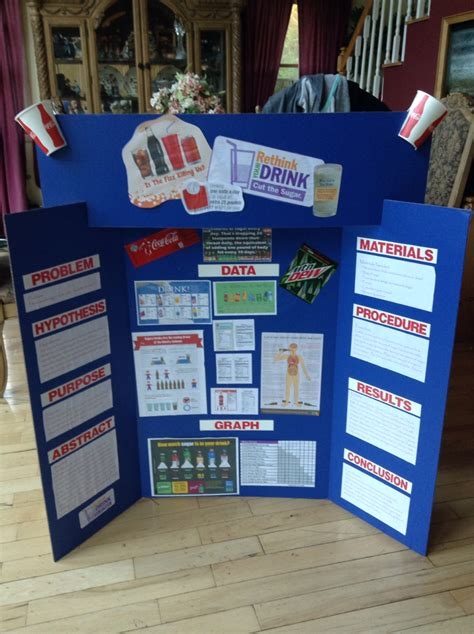 Rethink Your Drink 5th Grade Science Fair Project Science Fair Display Board Ideas