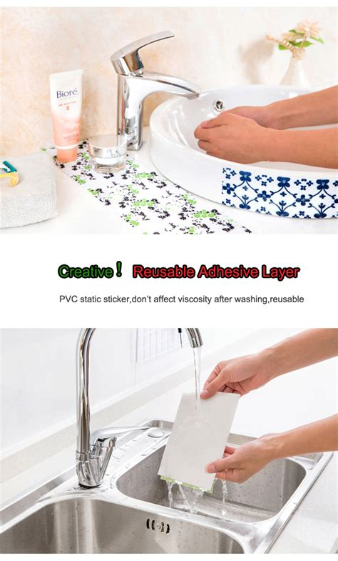 vegetables basin kitchen sink adhesive waterproof stickers