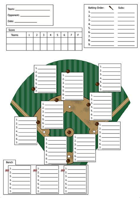 Baseball Template by Baseball Line Up Card Template 9 Free Printable Word