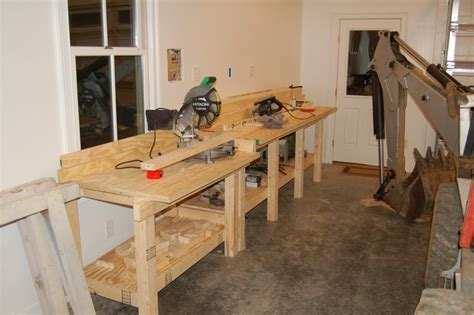 drop saw bench garage workbench 2x4 www pixshark com images galleries