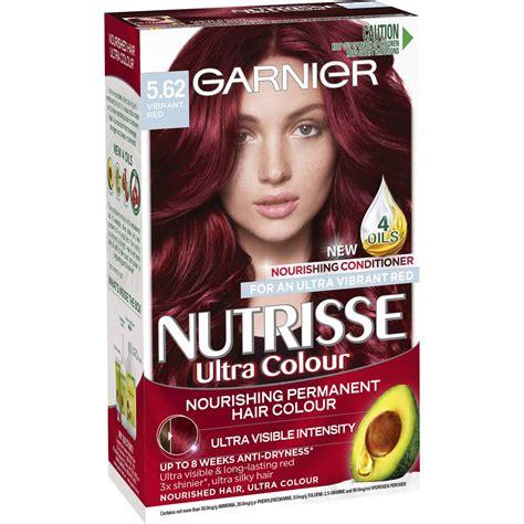 best drugstore red hair dye garnier nutrisse 5 62 vibrant red 1pk woolworths