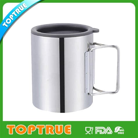mug without handle 450ml double wall travel mug inner stainless steel outer