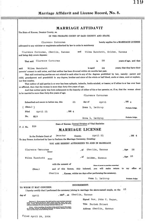 Are Marriage License Record Mcgee