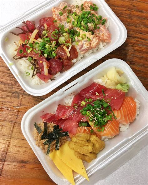 Origami Japanese Cuisine Rock Tx - maguro brothers poke and sashimi lunch in honolulu