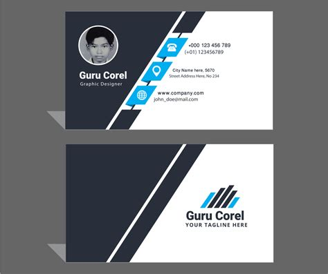 corel draw templates for id card free id crad guru corel