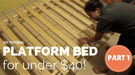 Cheap King Bed How To Build A Platform Bed For 40 Part 1 Of 3 Youtube