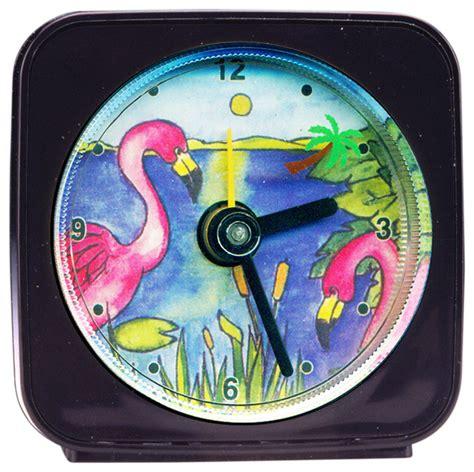 flamingo palm tree alarm clock eclectic clocks other metro by paper scissors rock
