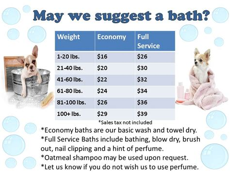 kennel prices bath prices toothacres petcare center
