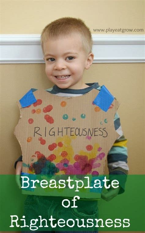 breastplate of righteousness craft for 110 best images about children s bible armor of god on