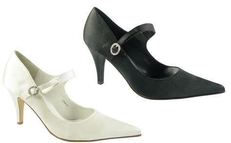 new womens black satin shoe kitten heels wedding
