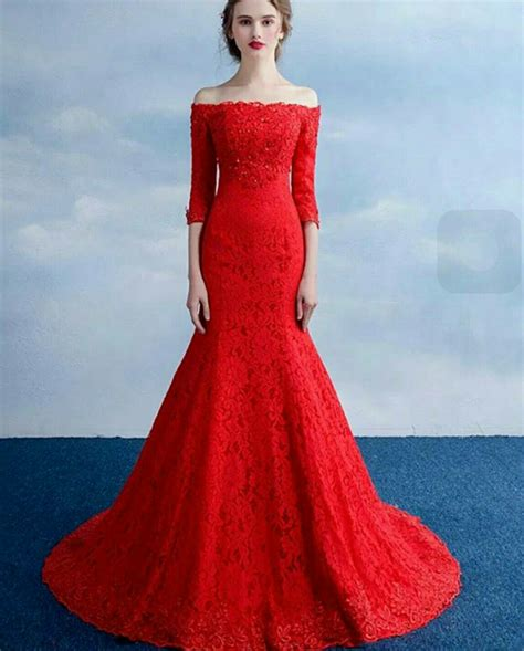 Jual Dress Murah Terbaru Dress Murah Davira Maxy Pr001 baju gaun dress maxy mermaid merah model terbaru