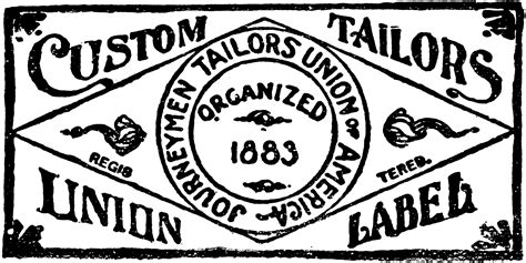 Union Clipart by Custom Tailors Union Label Clipart Etc