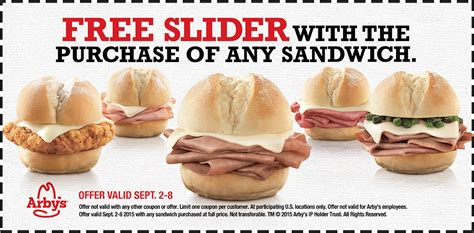 arby's sliders coupons