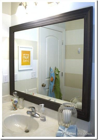 Bathroom Reveal Framed Mirror Diy Home Pinterest Frame Bathroom Mirror Diy