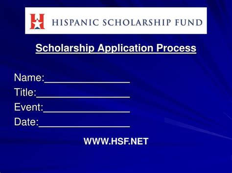 Application Processing System Ppt Ppt Scholarship Application Process Name Title Event