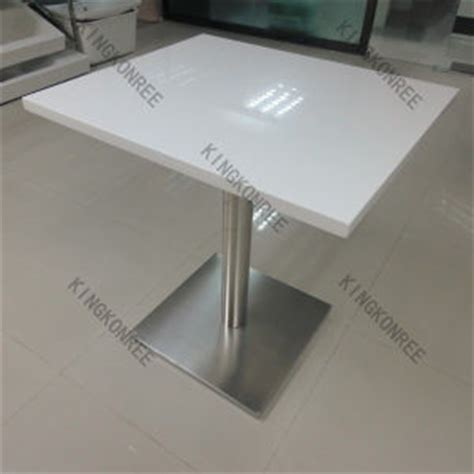 White Corian Table Top China Royal White Solid Surface Restaurant Dining Table