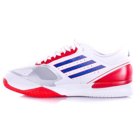 adidas adizero feather ii s tennis shoe white blue orange